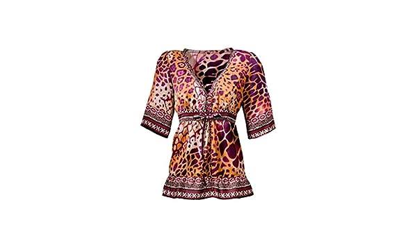 Heine de mujer Blusa túnica Blusa Naranja de Burdeos de color rojo en tamaño 38 poliéster naranja: Amazon.es: Ropa y accesorios