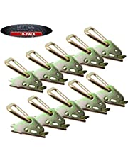 10 Pack Steel E-Track D Ring Tie-Down Anchors for E-Track TieDown System, Secure Cargo in Enclosed/Flatbed Trailers, Trucks