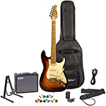 Sawtooth ST-ES-SBVC-KIT-3 Sunburst Electric Guitar with Vintage White Pickguard - Includes Accessories, Amp, Gig Bag and Online Lesson
