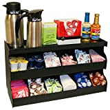 Coffee Condiment Organizer with Multi Purpose Top Shelf. 24'' W x 13'' H x 9''Deep. Proudly Made by PPM is the USA!