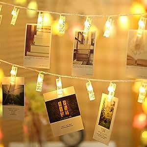 Led String Lights Gledto Photo Display Clip Decorative Lights 20 Leds 6 6 Feet For