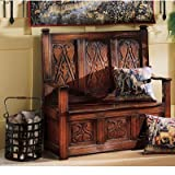 Cheap Design Toscano Historic Monk's Storage Wood Entryway Bench