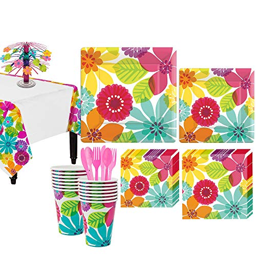 Party City Day in Paradise Summer Party Supplies for 16 Guests, 131 Pieces, Includes Plates, Napkins, Cups, Centerpiece]()
