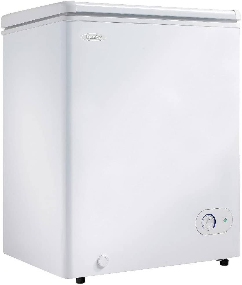 White Danby DUFM043A1WDD 4.3 Cubic Feet Upright Freezer