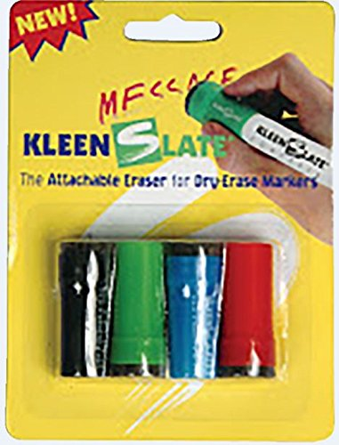 KleenSlate Small Dry Erase Caps, Pen Style, Assorted Colors, Set of -