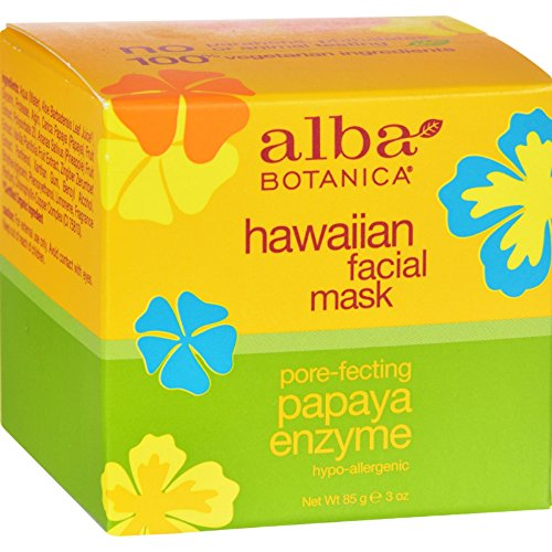 4 Pack of Alba Botanica Hawaiian Papaya Enzyme Facial Mask - 3 oz - - -