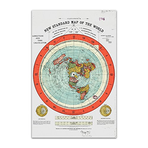 Flat Earth Map - Gleason's New Standard Map Of The World -