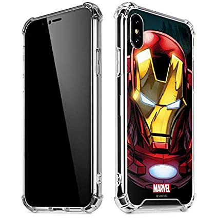 32a9acc3b066d Amazon.com: Skinit Ironman Close up iPhone Xs Max Clear Case ...