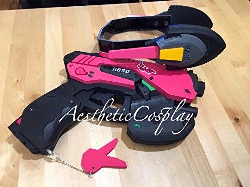 AestheticCosplay's Overwatch D.Va Cosplay Costume FULL Set Prop Gun & Headset Medium by AestheticCosplay (Image #3)