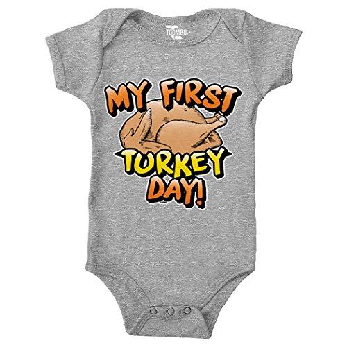 My First Turkey Day - Thanksgiving (Vertical) Bodysuit (6M, LIGHT (Rosetta 6 Light)