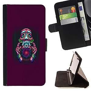 Momo Phone Case / Flip Funda de Cuero Case Cover - Resumen Psycho;;;;;;;; - LG G3