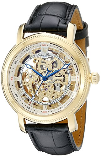Lucien Piccard Men's 40036A-YG-02S Paragon Analog Display Automatic Self Wind Black Watch