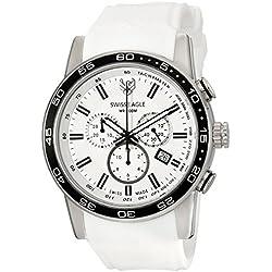 Swiss Eagle Men's SE-9057-02 Terrain Analog Display Swiss Quartz White Watch