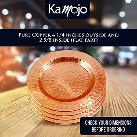 Moscow Mule Pure Copper Coasters – Protect your Furniture – For Copper Mugs, Small Cocktail Glasses & Small Wine Bottles…
