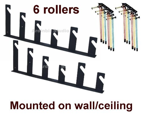 Ardinbir Studio 6x Chain Manual Drive Photography Background Backdrop Support System with Hooks, Rollers and Chains - Wall or Ceiling Mounted by Ardinbir Studio