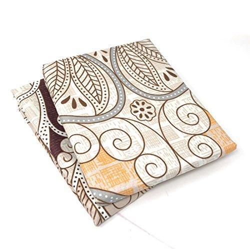 Paisley Standard Pillowcase (Tache Paisley Standard Pillowcase Maroon Mandala – Microfiber Fancy Decorative 20x30 Pillow Covers - 2 Piece Set)
