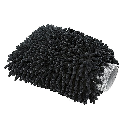 Chemical Guys MIC498 Black Microfiber Wash Mitt, 1 Pack