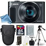 Canon PowerShot SX620 HS Digital Camera (Black) + 16GB Class 10 Memory Card + Point & Shoot Camera Case + Card Reader + Tripod + Screen Protector + Memory Card Case + DigitalAndMore Free Bundle