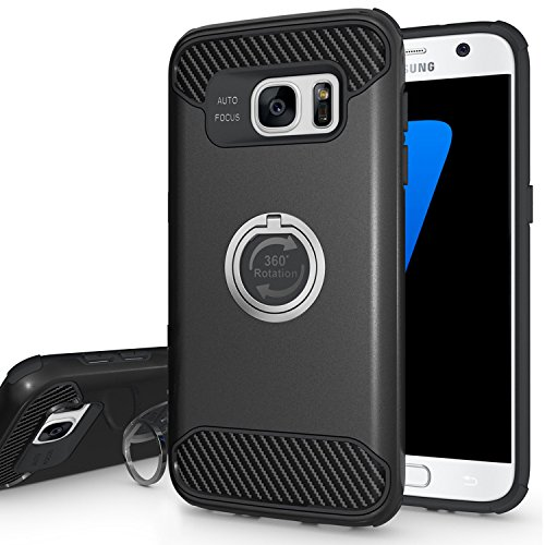 S8 Case, Peyou Protective Case for Samsung Galaxy S8, with Shock-Absorption Drop-Protection Hard PC Shell & Soft Silicone Inner & 360 Rotating Ring Grip Holder Stand