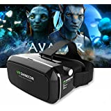 MSE Samsung Gear Inspired V3 Virtual Reality Headset 3D Glasses VR Shinecon Similar to the Habor VR 3D Headset - Black