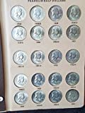 Complete Set Mint State 1948 to 1963 PDS Brilliant Uncirculated Franklin Halfs 35-Coins in Dansco Album BU to Choice BU