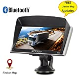 Xgody Truckers GPS 826 with Sun Shade Capacitive Touchscreen 256RAM 8GB ROM 7 Inch Car GPS Navigation System Bluetooth AT NAV with Lifetime Maps