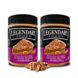 Legendary Foods | Pecan Pie Flavored Almond Nut Butter (2-16 oz Jars) | Low Carb and No Added Sugar | Healthy, Paleo, Vegan, Keto Friendly Snacks For Sale