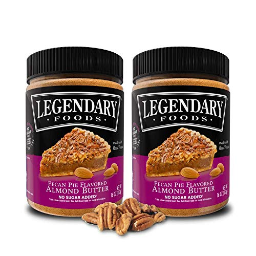 Legendary Foods | Almond Butter | Keto Friendly, Low Carb, No Sugar Added | Pecan Pie (16oz Jar, Pack of 2)