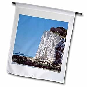 Danita Delimont - Cliffs - England, County Kent, White Cliffs of Dover, Ship - EU33 RER0075 - Ric Ergenbright - 18 x 27 inch Garden Flag (fl_82783_2)