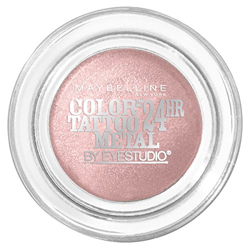 (Maybelline New York Eyestudio ColorTattoo Metal 24HR Cream Gel Eyeshadow, Inked in Pink, 0.14 oz. )