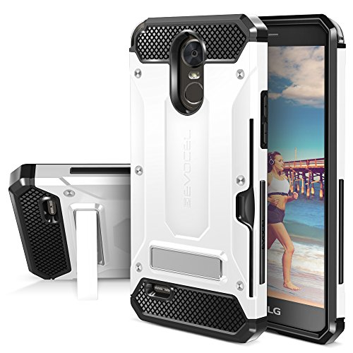LG G Stylo 3 Case, Evocel [Explorer Series Pro] Premium Dual Layer Protector with Credit Card Slot and Metal Magnetic Kickstand for LG G Stylo 3 (2017 Release), White (EVO-LGSTYLO3-CK18)