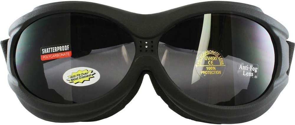 Birdz Buzzard Large Goggles Smoked Lens FITS OVER GLASSES