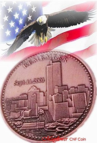 Mayflower CNF Coin *911 Never Forget * Rebuild Our World Trade Center Challenge Coin *We the People of The United States,We Would Never Forget the Pain, Salute to our Heroes!