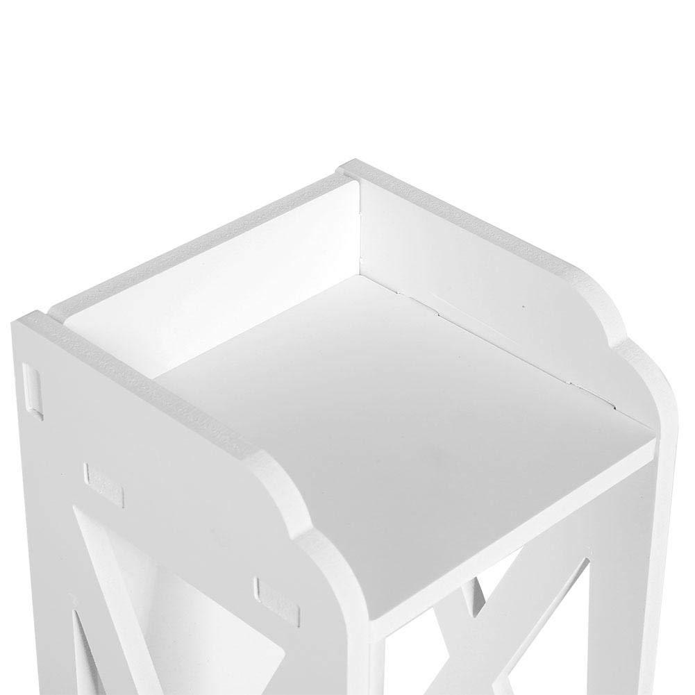 80 1 Portes et 1 tiroirs 15.5 Armoire Colonne de Salle de Bain Etag/ére Douche Meuble de Rangement Armoire Toilette 15.5CM