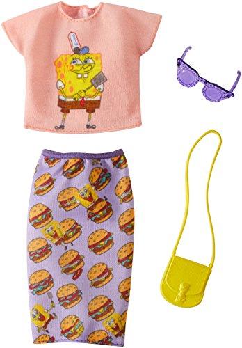 Barbie SpongeBob Peach Top and Purple Skirt Fashion Pack -