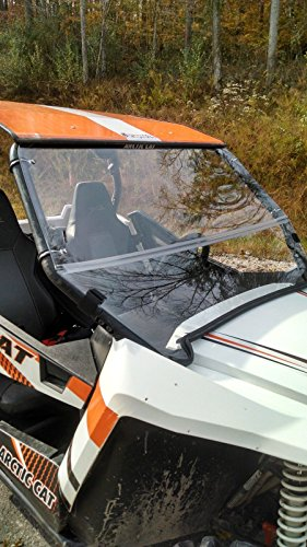Arctic Cat 700 Sport,Trail Clear Front Folding Windshield...A Full 1/4'' THICK!!! by Dot Weld Offroad