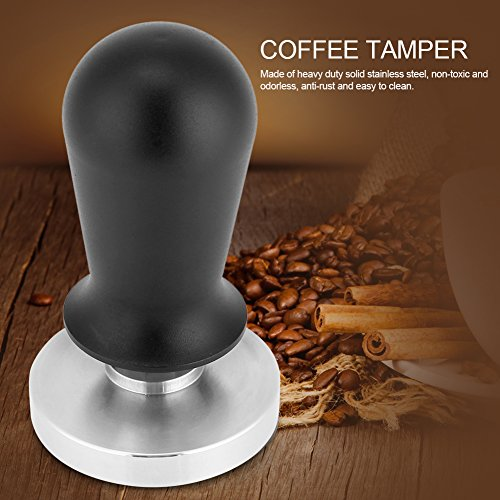 51/58mm Coffee Espresso Tamper, Calibrated Pressure Tamper Machine with Stainless Steel Flat Base for Coffee Bean Espresso Barista(51mm)