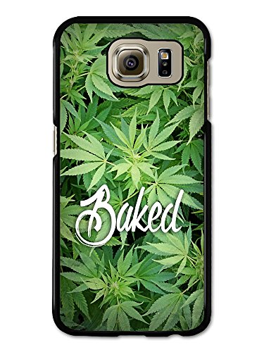 New Baked Design Funny Weed Marijuana Text Quote on Green coque pour Samsung Galaxy S6
