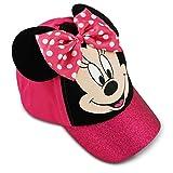 Disney Little Girls' Minnie Mouse Bow-Tique Cotton Baseball Cap, Pink, Black, One Size