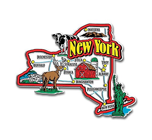 New York State Jumbo Map Magnet (Refrigerator New Magnet York)