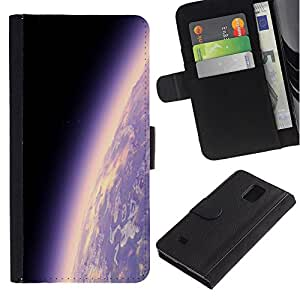 LASTONE PHONE CASE / Lujo Billetera de Cuero Caso del tirón Titular de la tarjeta Flip Carcasa Funda para Samsung Galaxy Note 4 SM-N910 / Space Planet Galaxy Stars 17