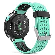 Garmin Forerunner 235 Accessories, MoKo Soft Silicone Replacement Watch Band for Garmin Forerunner 235 / 220 / 230 / 620 / 630 / 735 Smart Watch - Mint GREEN