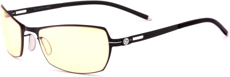 GAMEKING Ultra Premium Light G603 azul bloqueo Computer Gaming Gafas Gafas con tinte ámbar lente de reducción de tensiones del Ojo Digital - No Ampliación: Amazon.es: Salud y cuidado personal