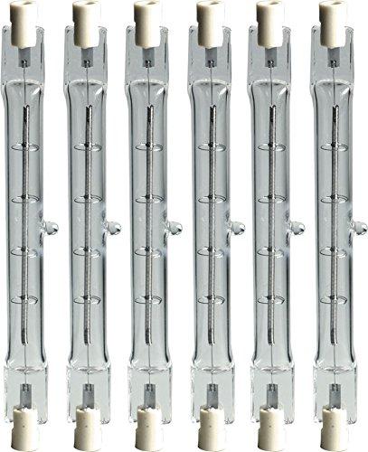 GE Lighting 24932 Proline 1500-Watt Halogen T3 240V  Light Bulb, 6-Pack