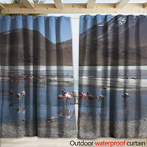 - outdoor blackout curtain Pink flamingos at Laguna Chiarkota - Chair KKota ( mt) is a shallow saline lake in the southwest of the altiplano of Bolivia close to the border with Drapery W120