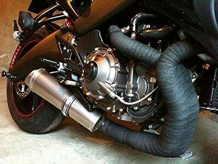 Superfiber Glass 2in*50ft,Or Isolant Thermique Echappement de Moteur en Titanium Magma pour Collecteur Echappement de Moto Et de Voiture