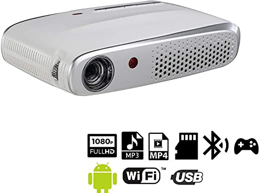 Smart Wireless Micro Inicio Proyector DLP HD Multimedia Video Foto ...