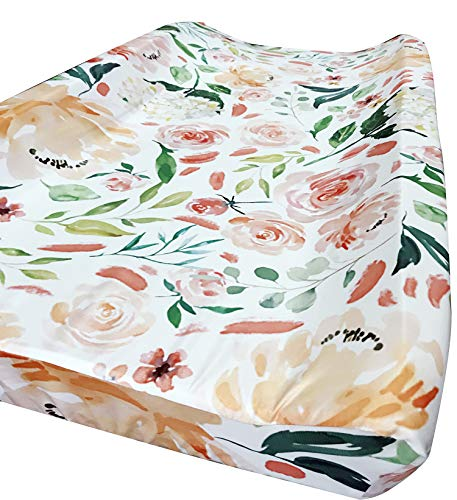 Baby Girl Crib Bedding Floral Changing Pad Cover (Secret ()