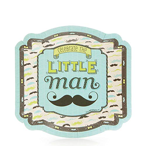 Big Dot of Happiness Dashing Little Man Mustache Party - Dessert Plate (8 Count)]()
