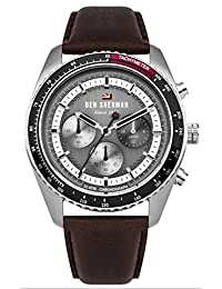 Ben Sherman Men's 'The Ronnie Chronograph' Quartz Stainless Steel and Leather Casual Watch, Color Brown (Model: WBS108BT)